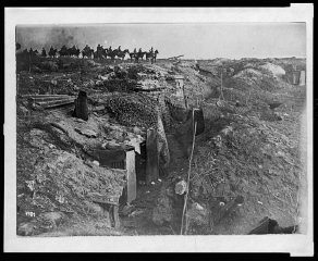 Abandoned British trench which was captured by German...