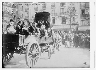Belgian refugees in Paris during World War I.