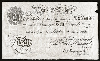 A counterfeit British bank note produced by Jewish...
