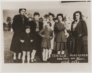 The Machefer family in Oradour. All of the people pictured...
