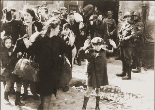 Jews captured by German troops during the Warsaw Ghetto...