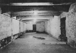 Gas chamber in the main camp of Auschwitz immediately after liberation.