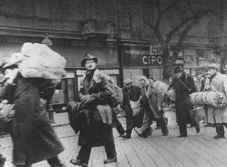 A group of Hungarian Jews rescued from deportation...