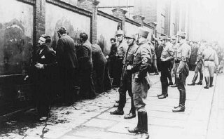 Political opponents of the Nazis, guarded by SA (Storm...