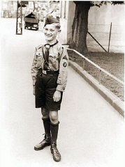 A Hitler Youth poses for a photograph in the Rhineland...