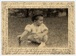 Photograph showing Margarida, Helen Reik's granddaughter...