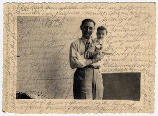 Photograph showing Kurt, Helene Reik's son, holding...