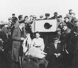 Public humiliation of Jews. Tarnow, Poland, 1940.