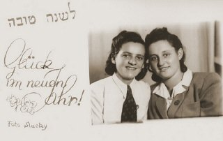 A Jewish New Year greeting card from Hela Brett, the...
