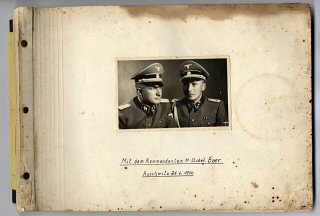The cover of the photograph album.