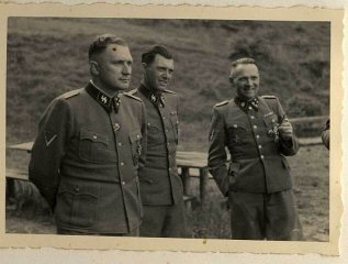 Richard Baer, Dr. Josef Mengele, and Rudolf Höss.