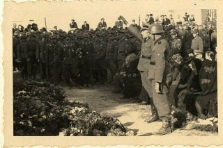 The funeral of SS officers killed in the December 26...