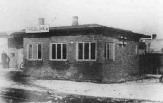 Train station near the Treblinka killing center.