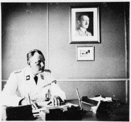 The commander of Gross-Rosen, SS-Obersturmbannfuehrer...