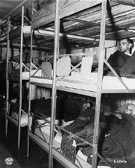 Photo prise dans l'infirmerie du camp, peu après la...