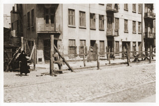 View of the entrance to the Gypsy camp on Brzezinska...