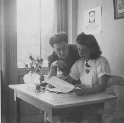 Margot Stein and Mrs. Zimmer, the wife of a physician...