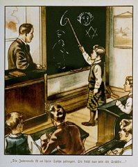 Illustration d'un livre d'enfants allemand antisémite...