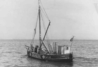 A boat used by Danish fishermen to transport Jews to safety in Sweden during the German occupation. Denmark, date uncertain.