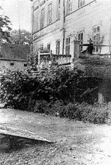 View of the manor house in Chelmno that became the...