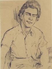 1943 portrait of Edgar Krasa drawn by Leo Haas in T...