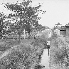View of the Vught transit camp. Vught, the Netherlands, after September 9, 1944.