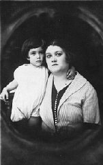 Prewar portrait of mother and son Zeni and Rudy Far...