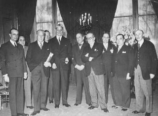 Delegates to the Evian Conference, where the fate of Jewish refugees from Nazi Germany was discussed.