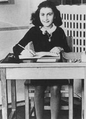 Anne Frank at 11 years of age, two years before going...
