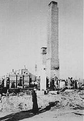 Post-liberation view of a crematorium at the Majdanek...