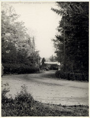 View of the road leading to the Deggendorf displaced...