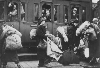Deportation of Jews to Riga, Latvia.