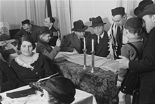 Members of Chug Ivri (Hebrew Club) of Berlin celebrate...