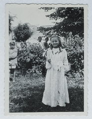 Selma Schwarzwald poses outside while wearing her first...