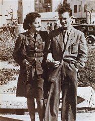 La paracadutista ebrea Hannah Szenes con suo fratello...