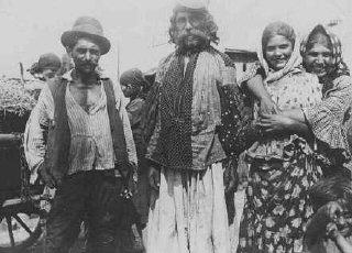 Roma (Gypsies) near Uzhgorod, Slovakia.