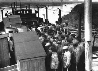 Many of the early concentration camps were improvis...