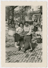 Two women who came to Switzerland on the Kasztner tranport...