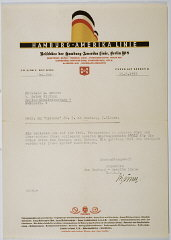 Letter from the Hamburg-Amerika Line sent to Ella Schatz...