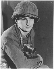 Portrait of US Army Signal Corps photographer J Malan...