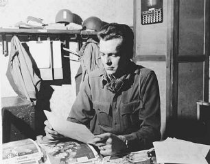 Portrait of US combat photographer Arnold E.