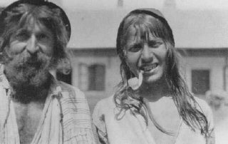 Two Roma (Gypsies) photographed near Craiova. Romania, probably early 1930s.