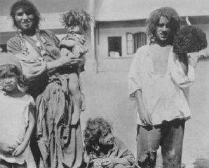 Romani (Gypsy) family near Craiova.