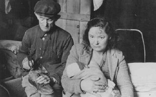 Jewish refugees in Feldafing displaced persons camp...