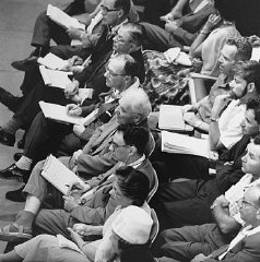 Many journalists covered the trial of Adolf Eichmann in Jerusalem.