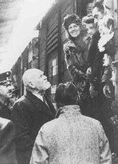 Des réfugiés juifs autrichiens rapatriés, venant de...