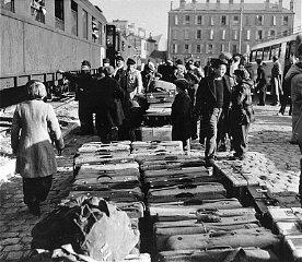 German Jewish orphans arrive at the Marseille railroad...