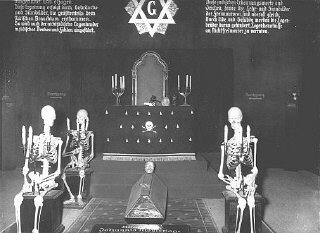 An antisemitic and anti-Masonic display at the exhibition...