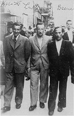 Three participants in the Treblinka uprising who escaped...