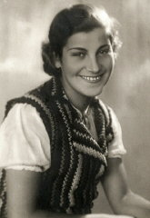 Studio portrait of Chava Leichter, murdered in Treblinka...